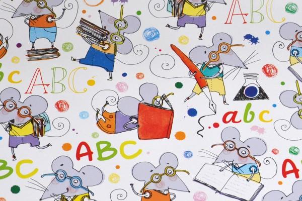 ABC Mäuse - Geschenkpapier Meterware