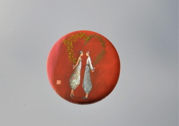 Verliebte - Ø 5,6 cm - Magnet