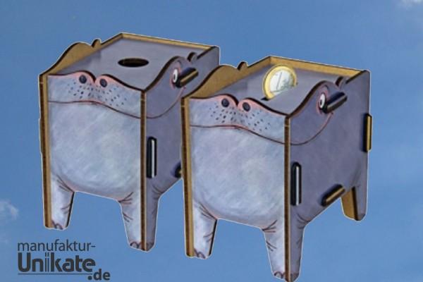 Hippo / Nilpferd - Twinbox