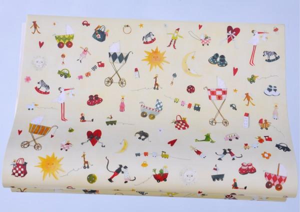 Spielsachen fürs Baby - Geschenkpapier
