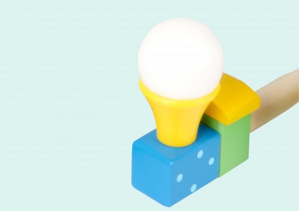 Pusteball aus Holz - Zug - verschiedene Farben