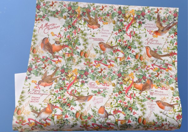 Vogelweihnacht - Geschenkpapier