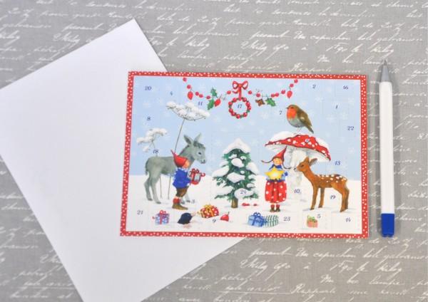 Kinderfreude / Pippa und Pelle - Adventskalenderkarte