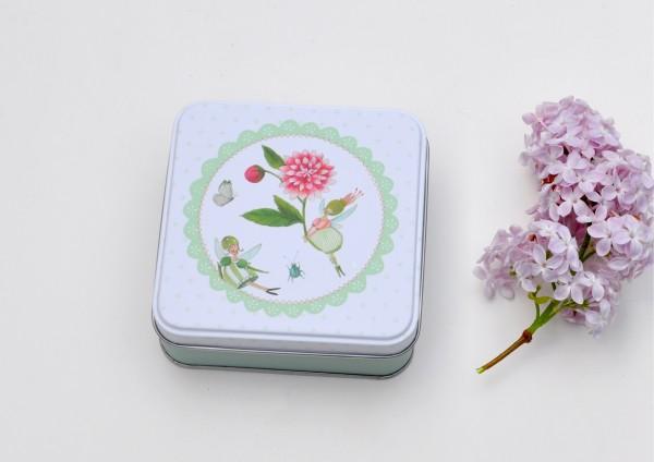Blumenelfen - Geschenkdose aus Metall
