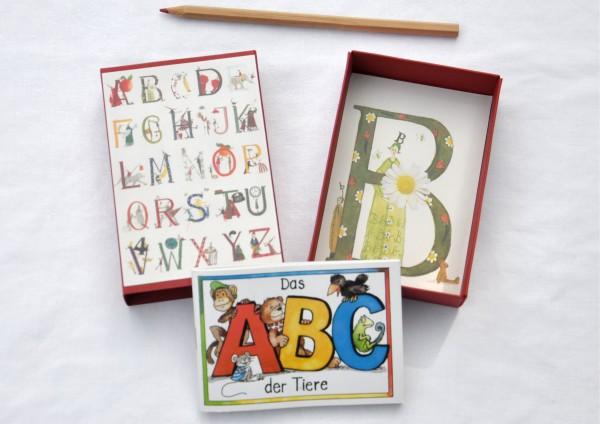 Schulanfang Alphabet / Blüte - Geschenkschachtel