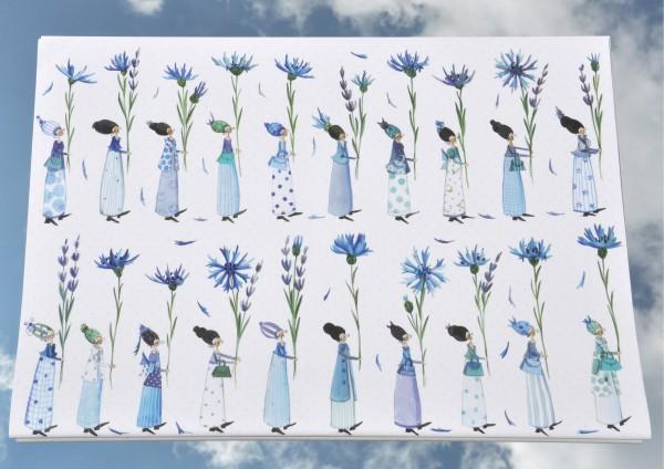 Kornblumen - Geschenkpapier