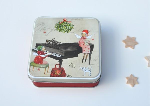 Weihnachtsmusik - Geschenkdose aus Metall