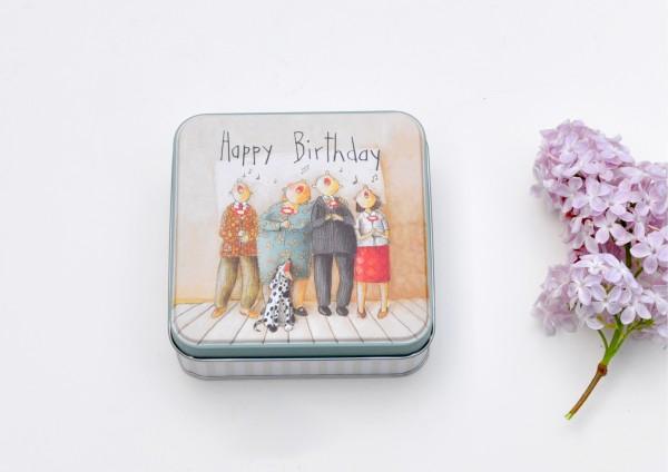 Geburtstagsständchen - Geschenkdose aus Metall