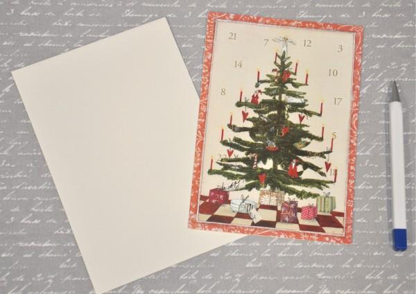 Weihnachtsbaum - Adventskalenderkarte