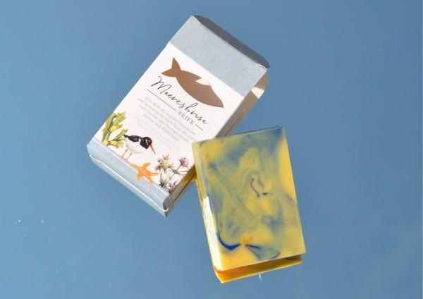 Meeresbriese - Seife aus Schafmilch mit Bernstein