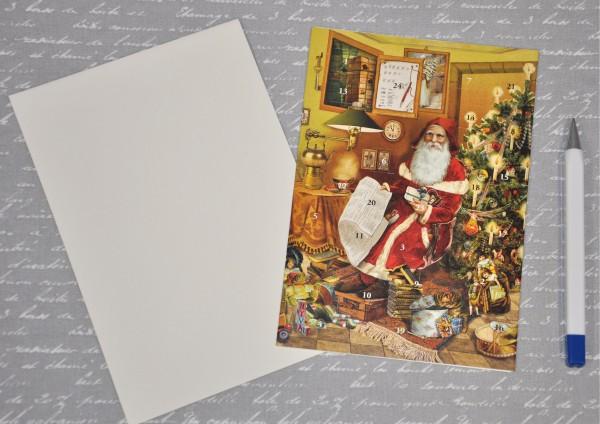 Nostalgische Weihnacht - Adventskalenderkarte