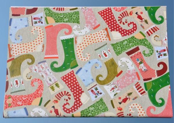 Weihnachtsstiefel - Geschenkpapier