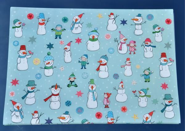 Lustige Schneemänner - Geschenkpapier