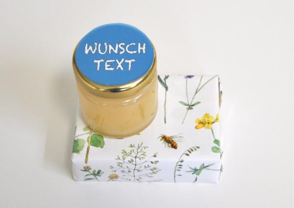 Honigmilchseife + Honig mit Wunschtext - fertig verpackt
