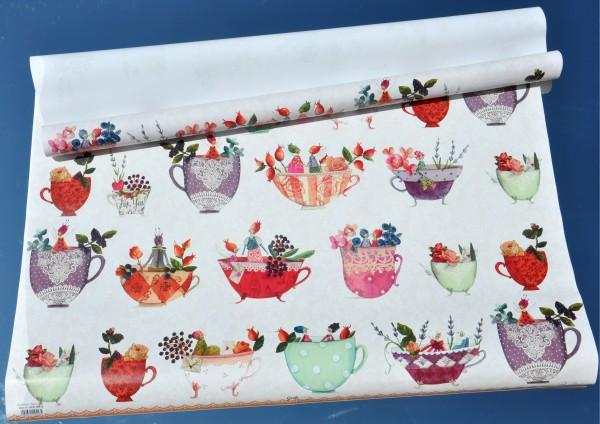 Traumtassen - Geschenkpapier für Tee- oder Kaffeetrinker