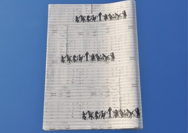 Orchester / Noten - Geschenkpapier