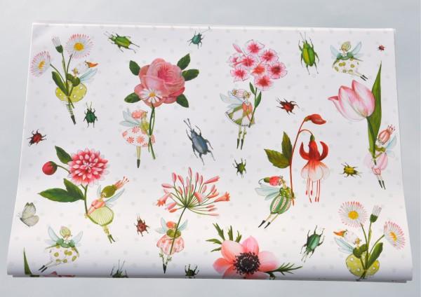 Blumenelfen - Geschenkpapier