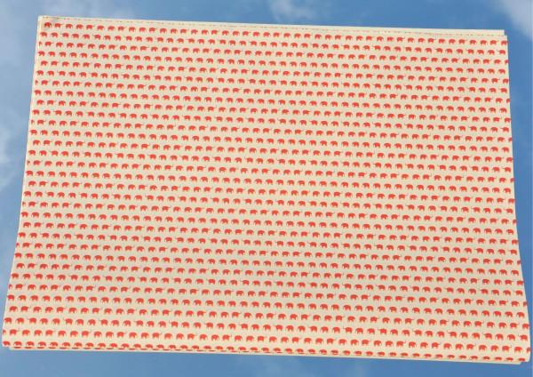Mini Elefanten Rot - Geschenkpapier