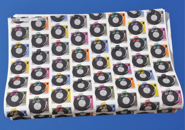 Schallplatte - Geschenkpapier