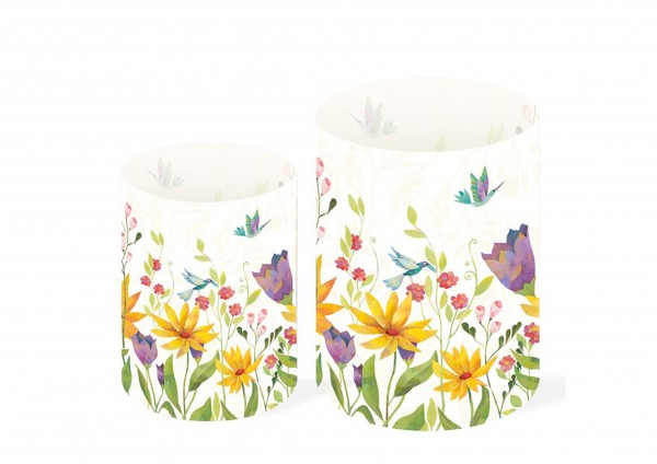 Blütenpoesie - Transparentleuchten-Set