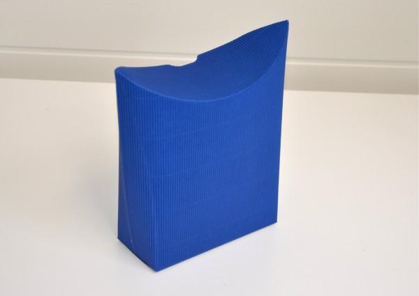 Standtasche aus Wellpappe - BLAU - Geschenkschachtel
