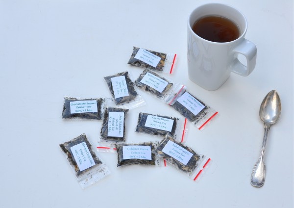 Grüner Tee je 1 Tasse verschiedene Stückzahlen zur Auswahl