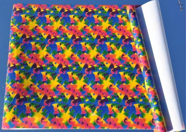 Buchstabensalat - Bucheinschlagpapier