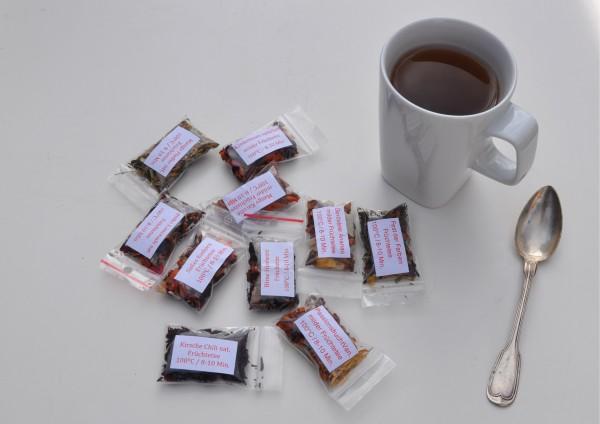 Früchtetee je 1 Tasse verschiedene Stückzahlen zur Auswahl