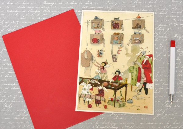 Weihnachtswerkstatt - Adventskalenderkarte DIN A5