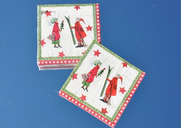 Weihnachtsmann & Engel - Servietten