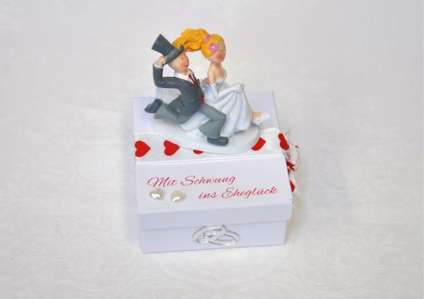 Geschenkbox zur Hochzeit - Mit Schwung ins Eheglück