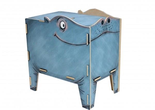 Hippo / Nilpferd- Sitztruhe