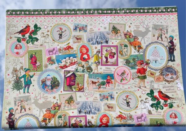 Weihnachts Nostalgie - Geschenkpapier