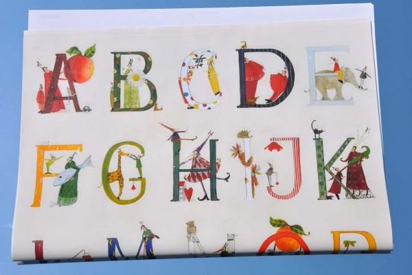 Alphabet von A bis Z - Geschenkpapier