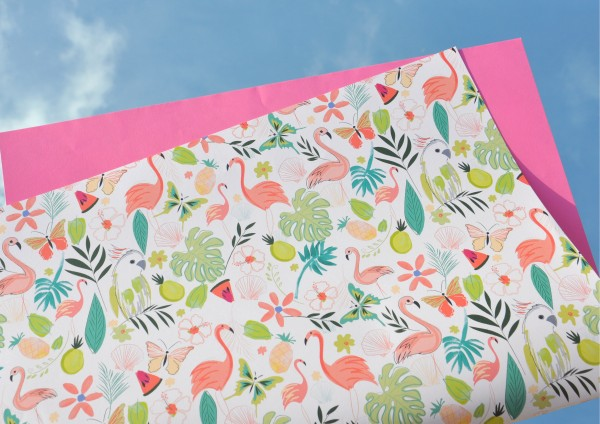 Florida Flamingo - Geschenkpapier