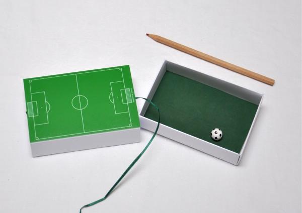 Fußball - Geschenkschachtel - Schiebeschachtel