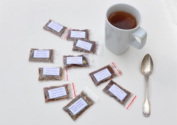 Rotbusch Tee / Rooibos je 1 Tasse verschiedene Stückzahlen zur Auswahl