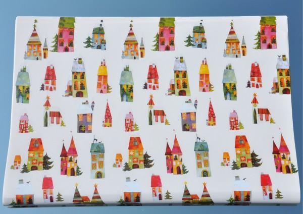Weihnachtshäuser - Geschenkpapier