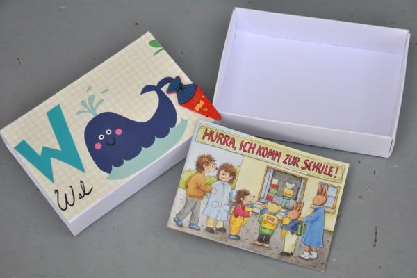 Schulanfang - W wie Wal - Geschenkschachtel