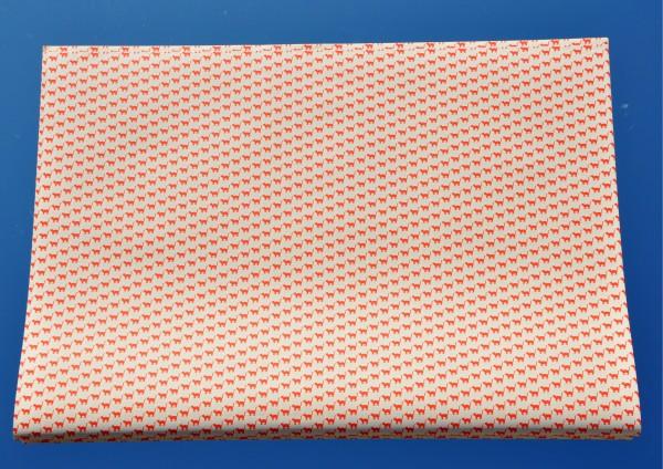 Mini Katzen Rot - Geschenkpapier